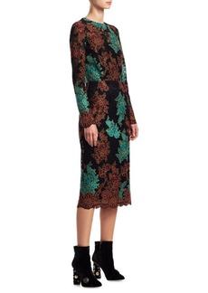 Dolce & Gabbana Multi Lace Sheath Dress
