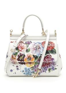 Dolce & Gabbana Multicolor Flowers Small Sicily Bag