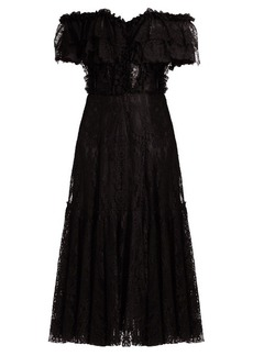 Dolce & Gabbana Off-the-shoulder lace midi dress