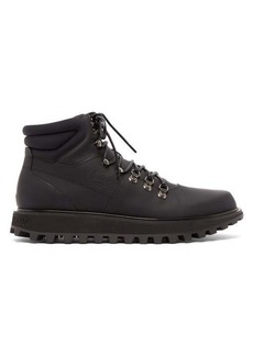 Dolce & Gabbana Padded matte leather hiking boots