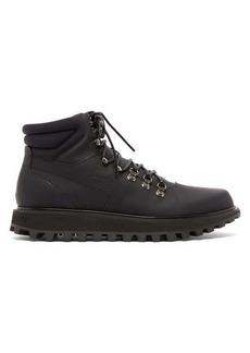 Dolce & Gabbana Padded matte leather hiking boots
