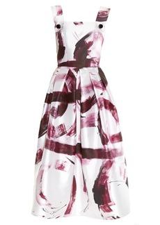 Dolce & Gabbana Paint-print silk-mikado dress