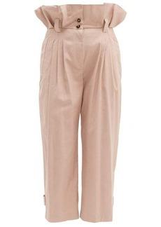 Dolce & Gabbana Paperbag-waist cotton-blend trousers