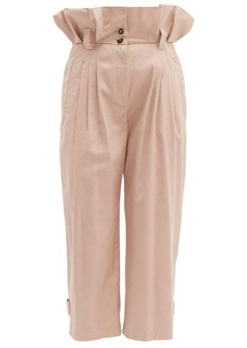 Dolce & Gabbana Paperbag-waist cotton-blend trousers