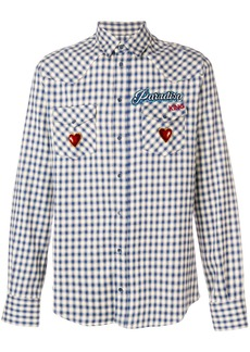 Dolce & Gabbana Paradiso embroidered checked shirt - Blue