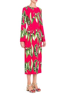 Dolce & Gabbana Peapod-Print Dress