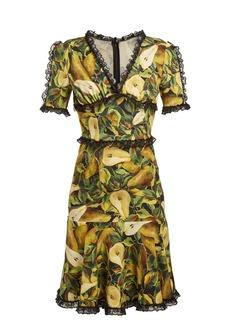 Dolce & Gabbana Pear-print midi dress