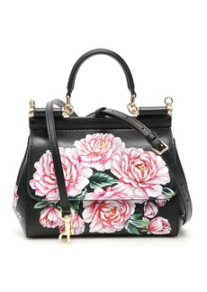 Dolce & Gabbana Peonies Small Sicily Bag
