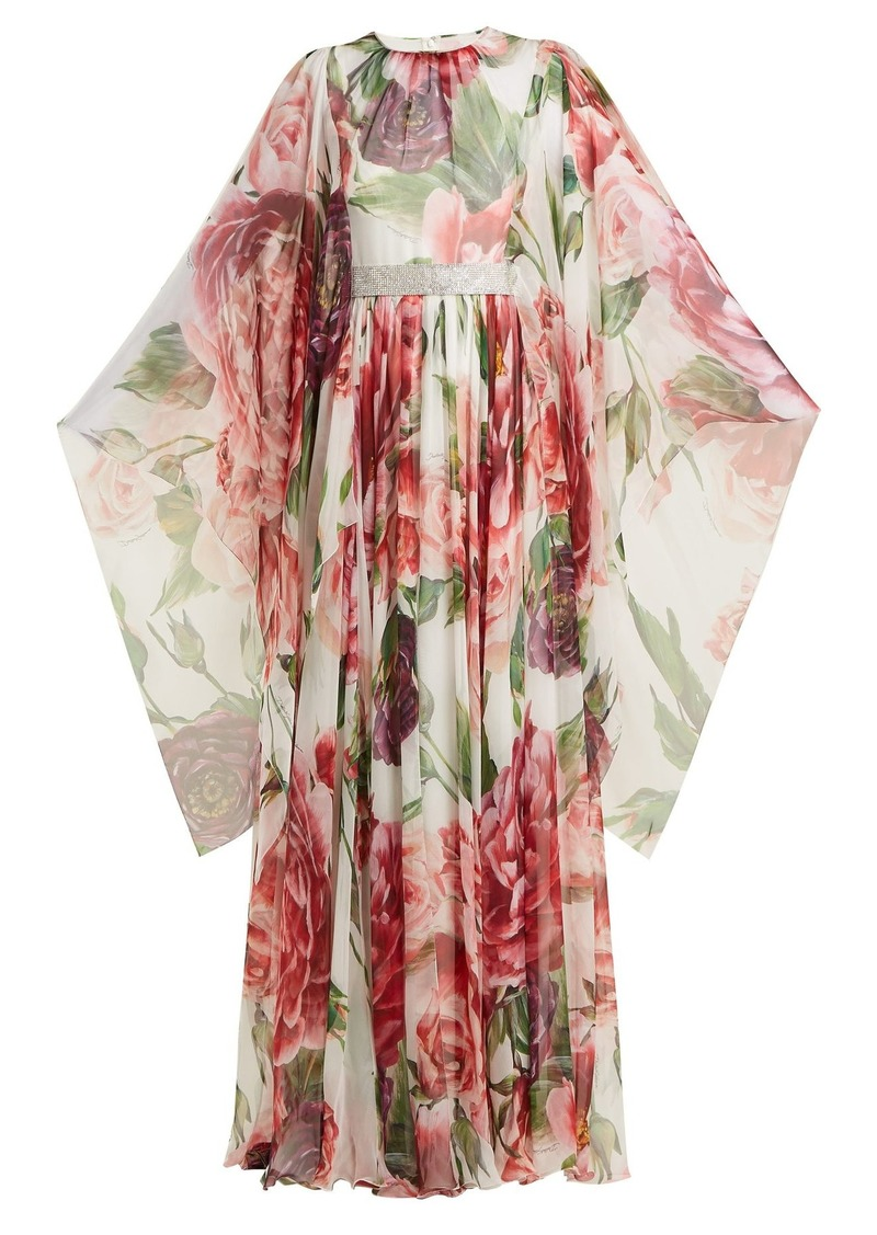be902a6b Dolce & Gabbana Dolce & Gabbana Peony-print silk-chiffon gown | Dresses