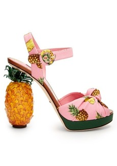 Dolce & Gabbana Pineapple-heel sandals