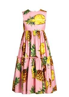Dolce & Gabbana Pineapple-print cotton dress