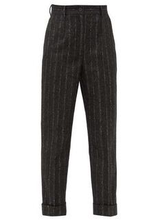 Dolce & Gabbana Pinstriped straight-leg tweed trousers