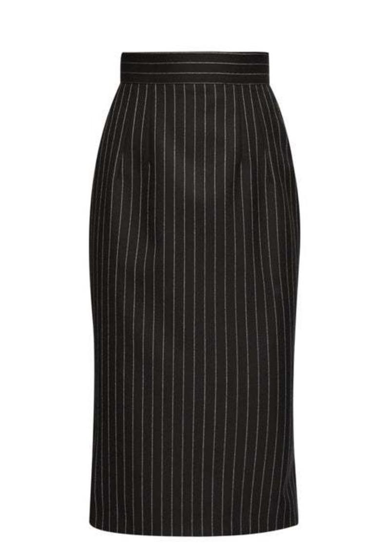 Dolce & Gabbana Pinstriped wool-blend pencil skirt