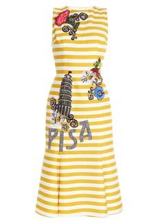 Dolce & Gabbana Pisa embellished striped dress