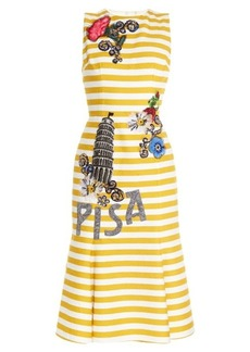 Dolce & Gabbana Pisa embellished striped dress