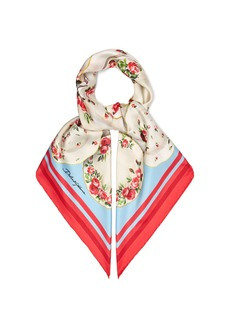 Dolce & Gabbana Plate and floral-print silk-twill scarf