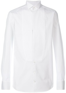 Dolce & Gabbana pleated plastron shirt - White