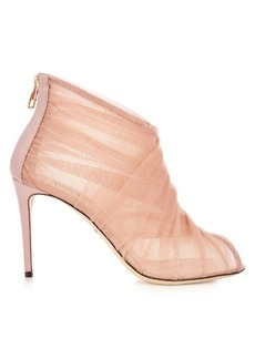 Dolce & Gabbana Pleated-tulle open-toe ankle boots