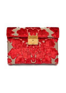 Dolce & Gabbana Pochette velvet-brocade envelope clutch