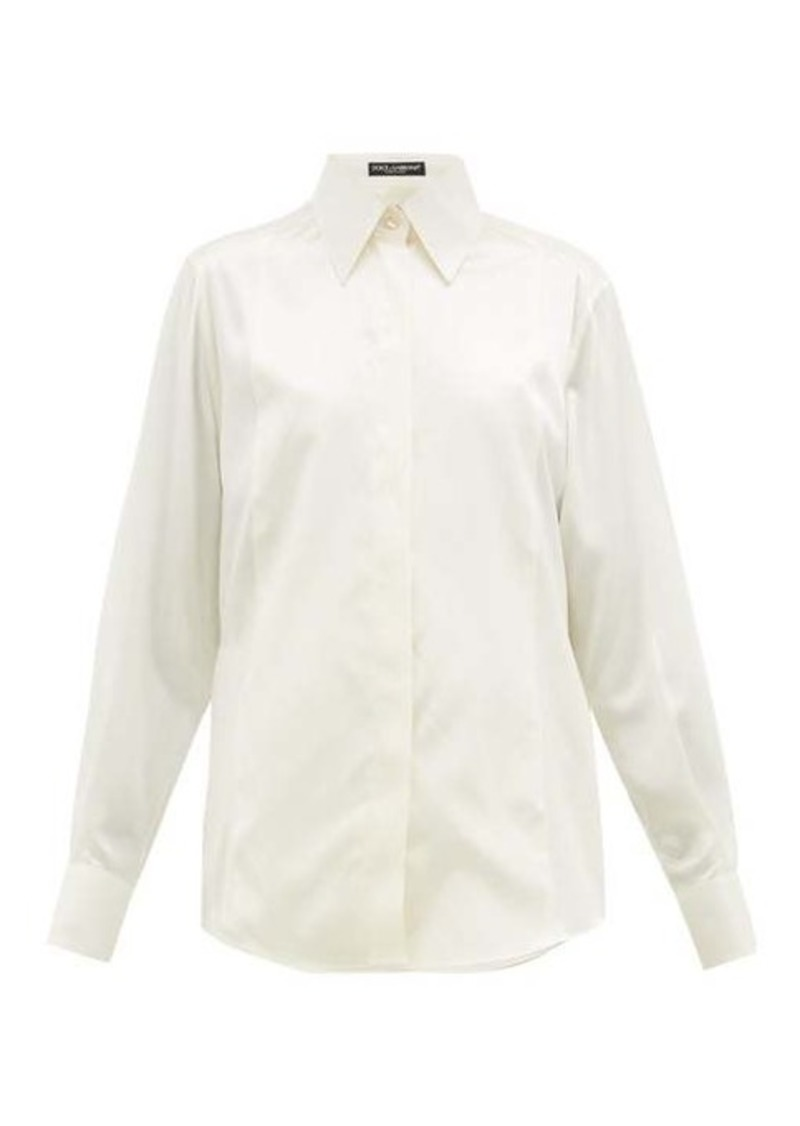 Dolce & Gabbana Point-collar silk blouse