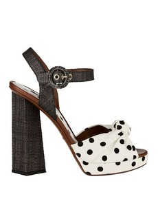 Dolce & Gabbana Polka Dot High Heel Sandals