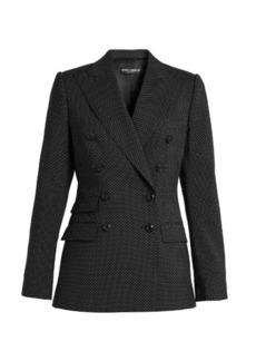 Dolce & Gabbana Polka-dot print double-breasted wool jacket