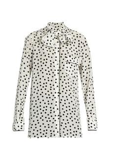 Dolce & Gabbana Polka-dot print silk crepe de Chine blouse