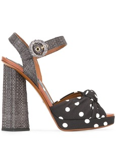 Dolce & Gabbana polka dot sandals - Black
