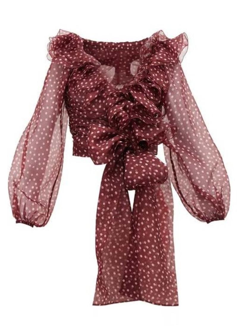 Dolce & Gabbana Polka dot silk-organza top