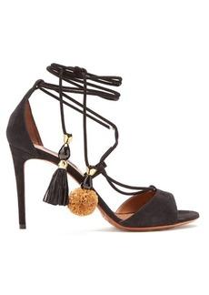 Dolce & Gabbana Pompom-tassel suede sandals