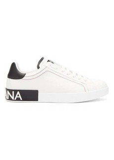 Dolce & Gabbana Portofino logo low-top leather trainers