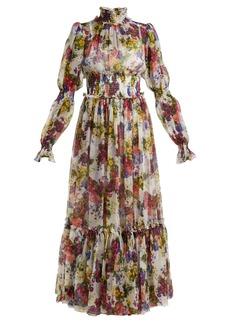 Dolce & Gabbana Primrose-print silk-chiffon maxi dress
