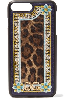 Dolce & Gabbana Printed textured-leather iPhone 7 Plus case