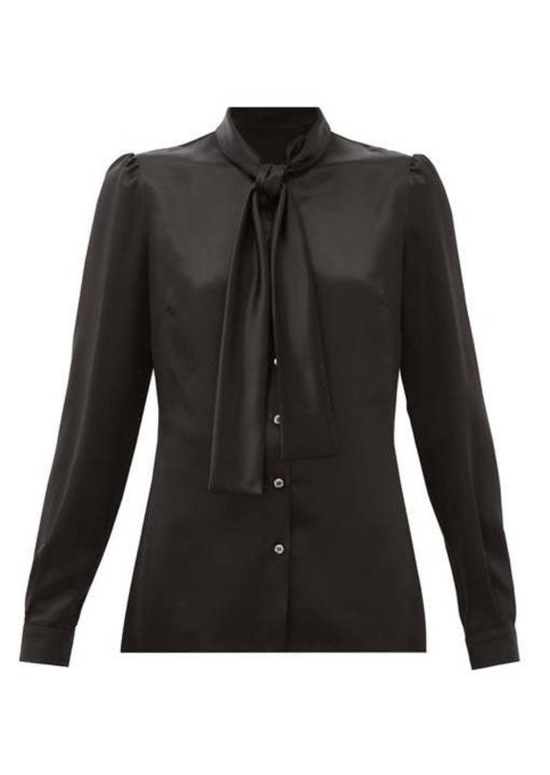 Dolce & Gabbana Pussy-bow silk satin blouse