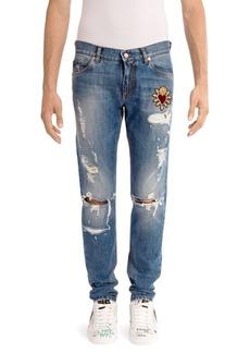 Dolce & Gabbana Ripped Heart Jeans