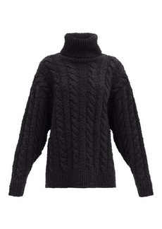 Dolce & Gabbana Roll-neck cable-knit wool-blend sweater