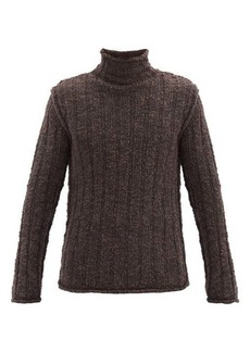 Dolce & Gabbana Roll-neck ribbed wool-blend sweater
