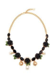 Dolce & Gabbana Rose and crystal-embellished necklace