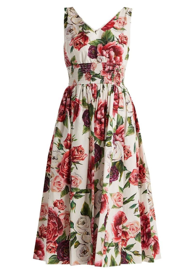 449ed8ecde24c Dolce   Gabbana Dolce   Gabbana Rose and peony-print cotton poplin ...