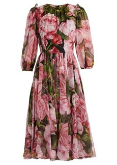 Dolce & Gabbana Rose-print chiffon dress