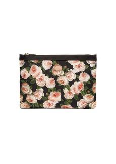 Dolce & Gabbana Rose-print nylon pouch