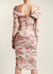 ac781cb47187 Dolce   Gabbana Dolce   Gabbana Rose-print ruched-tulle dress