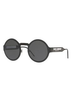 Dolce & Gabbana Round Metal Logo Sunglasses
