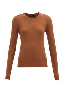 Dolce & Gabbana Round-neck ribbed virgin-wool sweater