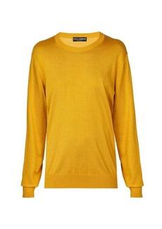 Dolce & Gabbana Round-neck silk sweater