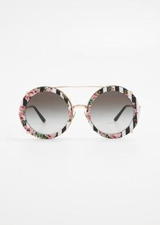 Dolce & Gabbana Round Print Ro Sunglasses