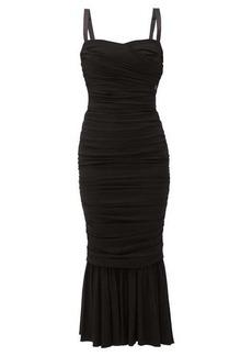 Dolce & Gabbana Ruched crepe midi dress