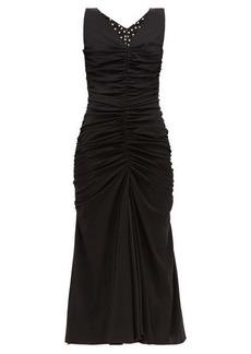 Dolce & Gabbana Ruched-front silk-blend dress