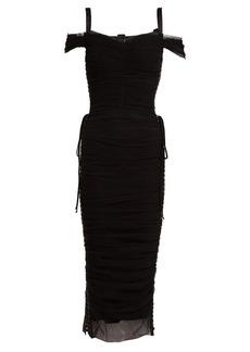 Dolce & Gabbana Ruched off-shoulder midi dress