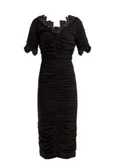 Dolce & Gabbana Ruched silk-georgette midi dress